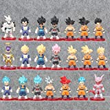 Yvonnezhang 21 unids / Set Figura de Acción Dragon Ball Goku Son Goku Vegeta Frieza Vegetto PVC Anim...
