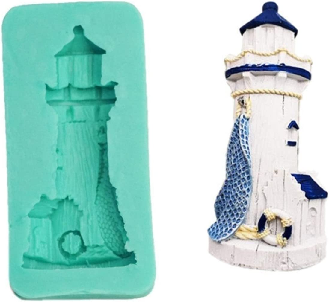 YZDKJ 3D Lighthouse DIY Candle Making Homemade Mold safety Cake Low price Fondant