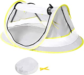 Baby Beach Tent, Portable Pop Up Tent, UPF 50+ Sun Shelters, Baby Shade with Mosquito Net, Sun Shade for Girls Boys, Beach Umbrella for Infant