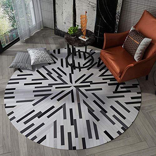Miwaimao Alfombra de área redonda para salón, dormitorio, cocina, patio, mesa de café, sillón, cesta para colgar 180 cm, 110 cm