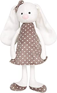 Hugmo Cuddly Bunny Toys and Stuffed Animals for Girls and Boys 0-8 (Dress)