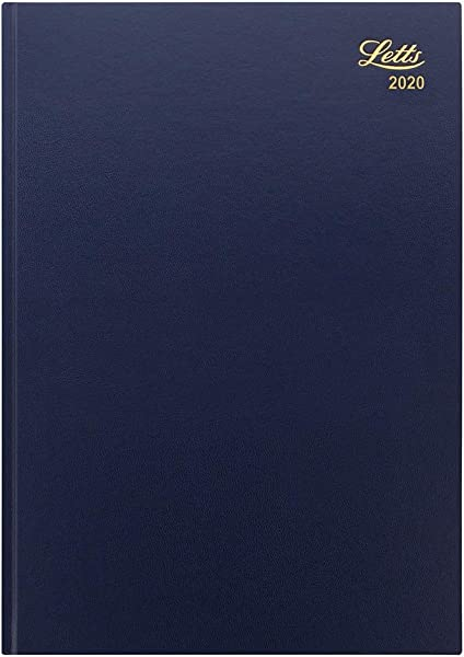 Letts Standard 2020 Day Per Page A4 Diary Blue