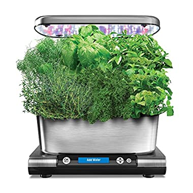 AeroGarden Harvest Elite, Stainless Finish