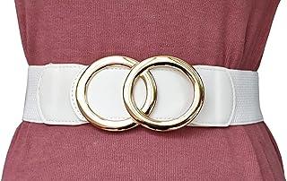 Women's Stretch Belts Luxury with Rhinestone Black Waist Belts by RASAMIA