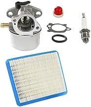 HURI Carburetor with Gasket Air Filter Primer Bulb Spark Plug for Briggs & Stratton 799868 498170 497586 497314 698444 498254 497347 497410 496115