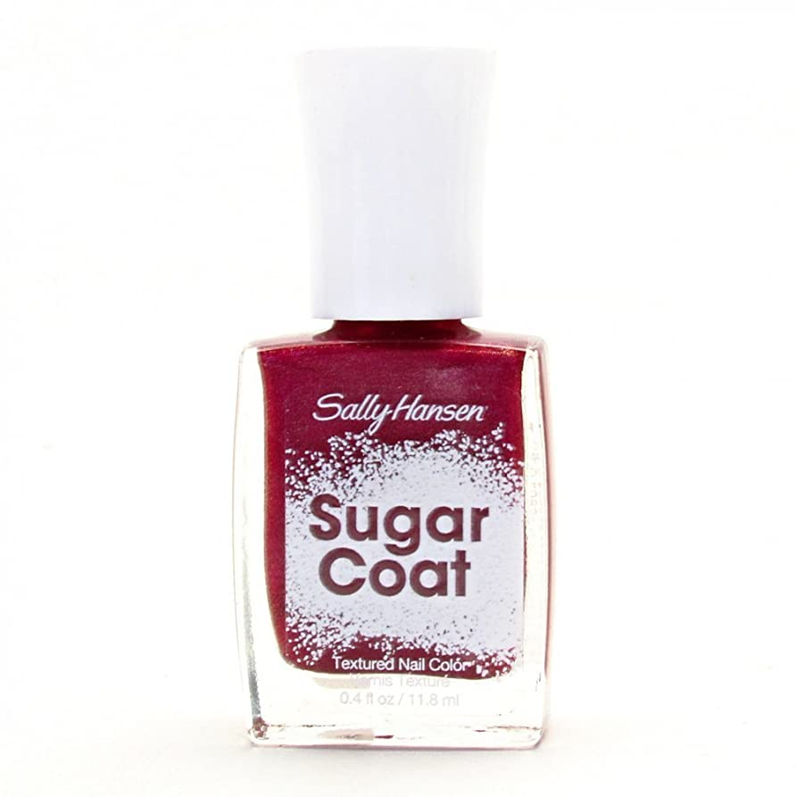 住人スパイヒールSALLY HANSEN SUGAR COAT TEXTURED NAIL COLOR #240 RED VELVET
