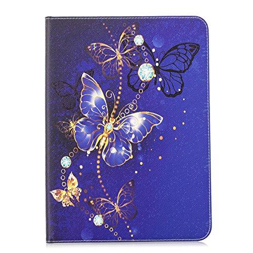 MoreChioce kompatibel mit Galaxy Tab S2 9.7 Hülle,Bunt Lila Schmetterling Leder Schutzhülle Tablet Smart Stand Case Ledertasche kompatibel mit Galaxy Tab S2 9.7 T810 T813 T815 T819,EINWEG
