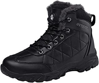 Mens Snow Boots Waterproof Outdoor Hiking Shoes Ankle Sneakers