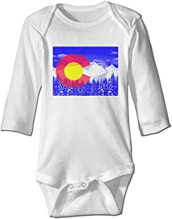 ONE SUIT Flag of Colorado Long Sleeve Bodysuit Baby Onesies Baby Clothes Jumpsuit