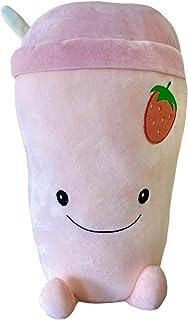 Snuggaboos Original Super Soft Plushie Pillow Toy - Strawberry Milkshake Ruby Squish Plush Pet - Cute Pink Squishie Gifts ...