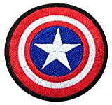 Captain America Size 2.75' Inch Super Hero Comic Avenger Embroidered Iron/sew on Patch Ready Cool Patch