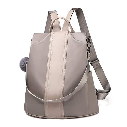 bc0c3cf1c8 Women Backpack Purse Waterproof Nylon Anti-theft Rucksack Lightweight  School Shoulder Bag