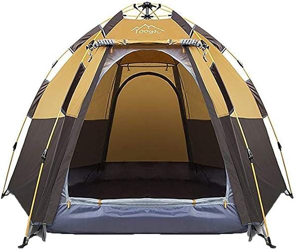 GZW001 Terrain de Camping étanche à la Pluie épaissie d'une Chambre à Coucher et d'une Chambre à Coucher, pouvant accueillir 5 à 8 Personnes