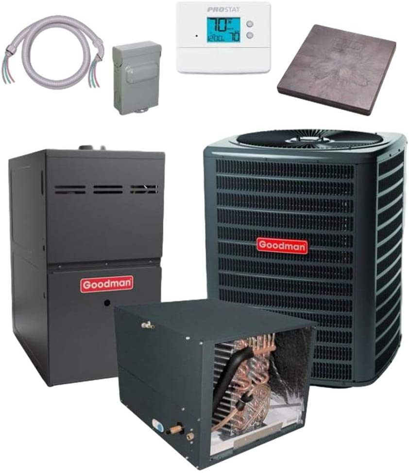 Goodman 3 TON 15.5 SEER Max 40% Max 43% OFF OFF CHPF48 bundle Conditioner GSX160361 Air