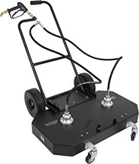 """Erie Tools 36"""" Hot and Cold Pressure Washer Aluminum Flat Surface Cleaner with Wheels 4000 PSI 7 GPM"""