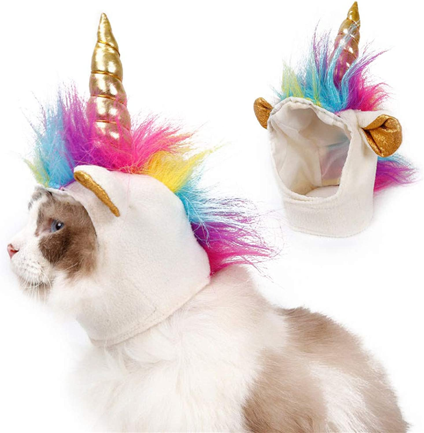 colorful Unicorn pet Clothing Cat Dog pet Costume Transforming Funny Hair Halloween Christmas Party Concert Dress up