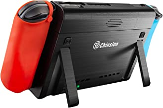 ID CHINSION 10000mAh Battery Charger Case for Nintendo Switch, Portable Pop-Up Backup Extended Travel Battery Pack for Switch Games and Accessories, Black