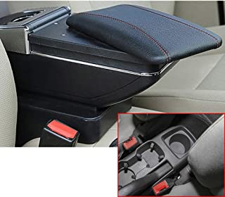 ALLYARD for Chevrolet 2011-2014 Aveo Sonic Lova T250 T300 Car Center Console Armrest Box Cover Armrest Pillow Cushion Car Storage Organizer Accessories Black