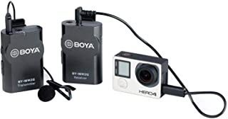 BOYA BY-WM2G Lavalier Wireless Microphone with GoPro Cable Convertor for Podcast GoPro Hero3 Hero3+ Hero4 iOS Smartphone i...