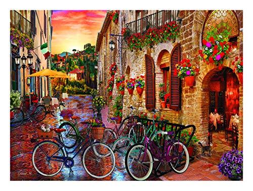 Anatolian Puzzle 1000 Teile für Erwachsene - 1000 Teile Puzzle für Erwachsene Radfahren in der Toskana ist ideal als Geschenk für die ganze Familie und das Puzzle besteht aus ESKA BOARD