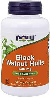 Now Foods - Black Walnut Hulls, 500 mg, 100 Capsules