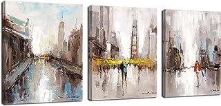 FajerminArt 3 Paneles Amante Abstracto Moderno Lienzo