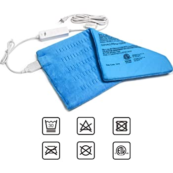 """GOQOTOMO Large Electric Heating Pad for Back Pain and Cramps Relief -XL [12""""x24""""] - Ultra-Soft Heat Pad with Moist & Dry Heat Therapy Options - Auto Shut Off - Hot Heated Pad by-HB003"""