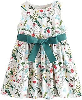 فساتين صيفية للأطفال الصغار من Bear Leader Girls Floral Dress بدون أكمام ملابس عادية 3-7 سنوات