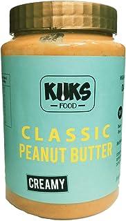 KUKS FOOD Classic Peanut Butter Creamy (Gluten Free, Dairy Free, High Protein) Jar, 925 g