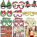 BESTZY 9pcs ¡Feliz Navidad Gafas, Decorativas Navideñas Gafas Navidad Disfraz Accesorio Fiesta navideña para niños y adultos Decoraciones de feliz año nuevo Favores