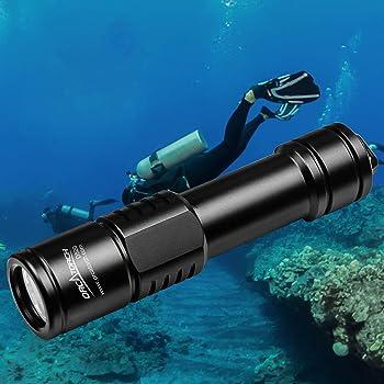 ORCATORCH D520 Diving Flashlight Scuba diving Backup light