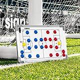 FORZA Pizarras de Tácticas de Fútbol   Pizarra Blanca para Entrenamientos (Incluye Marcadores Lavables) (45cm x 30cm Pizarra de Tácticas)