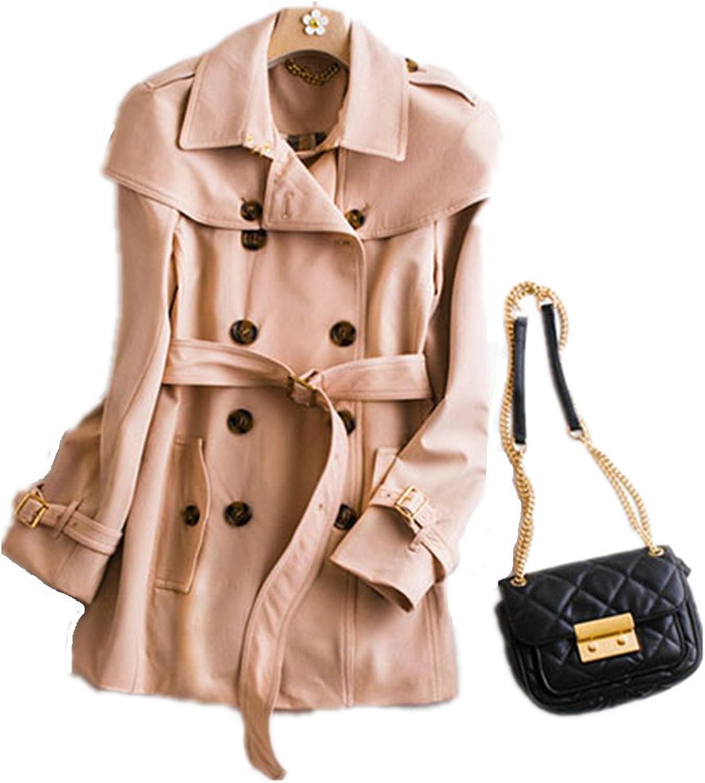 Bobbycool Autumn Long Slim HighGrade Ladies Windbreaker Jacket