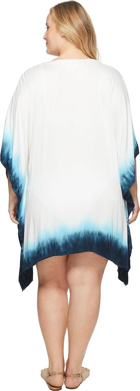 La Blanca Women's Plus Size Woven Lace-up Tunic Dress