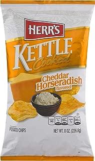 Herr's Kettle Cooked Potato Chips- Cheddar Horseradish, Smoked Chipotle, Honey Sriracha or Mesquite BBQ (Cheddar Horseradish, 3 Bags)