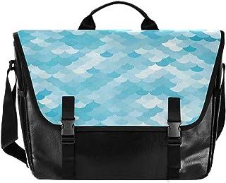 Bolso de lona para hombre y mujer, diseño de sirena, color azul