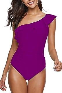 65f7e903361c4 Uniarmoire Womens One Piece Swimsuit Mesh Swimwear Solid Bathing Suit