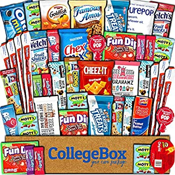 45-Ct CollegeBox Snacks Food Cookies Granola Bar Chip Candy Variety Gift
