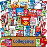 CollegeBox Care Package (45 Count) Snacks Food Cookies Granola Bar Chips Candy Ultimate Variety Gift...