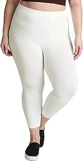Women Seamless Basic Capri Legging Tights, Made in U.S.A, Plus Size