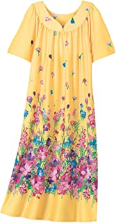 bb8c0def AmeriMark Lounger House Dress with Pockets for Women Mumu Nightgown