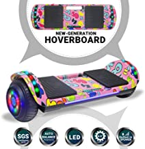 Beston Sports Newest Generation Electric Hoverboard Dual Motors Two Wheels Hoover Board Smart self Balancing Scooter with Built in Speaker LED Lights for Adults Kids Gift