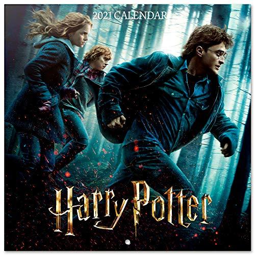 ERIK - Calendario de pared 2021 Harry Potter, Produco Oficial, 30x30 cm