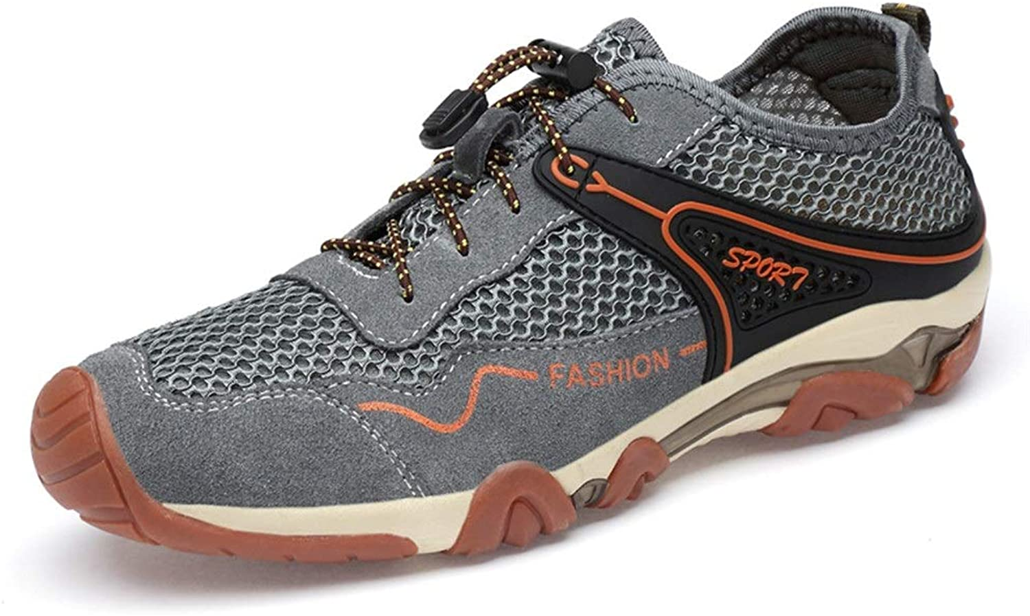 Ino Durable Athletic Sneaker for Men Elastic Cord Mesh Fabric Outdoor Sports Hiking Mountain Climbing shoes
