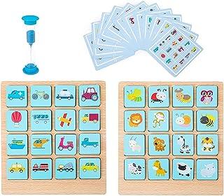 YHomU Wooden Early Childhood Education Babies Boys Girls Kids Children Memory Matching Card Game Educational Fruit Fun Fun...