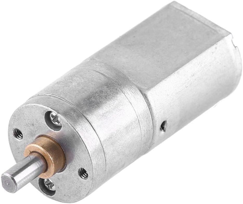DC 12V Motor de Reducción de Velocidad Motor de Engranaje de Turbina Motor de Reducción de Alta Fuerza de Torsión con Diámetro Exterior 20MM 15/30/50/100/200RPM(50RPM)