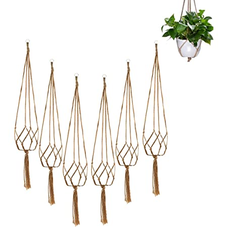 Rope Plant Hanger Flowerpot Hanging Holder Basket Home Garden Decor