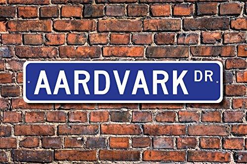 MNUT Señal de Metal para decoración del hogar, Signo de Aardvark, Signo...