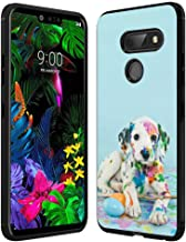 Case for LG G8 ThinQ Colorful Dalmatians Hard PC and Soft Rubber Impact Resistant Shockproof