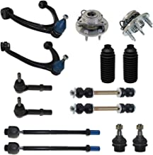 [4x4 ONLY] 14-Piece Front Suspension Kit - 2 Front Wheel Hub Bearings, 2 Upper Control Arm & Ball Joints, 2 Lower Ball Joints Fit Steel Control Arms Only